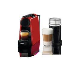 Magimix Essenza & Aeroccino Mini Nespresso Machine Red