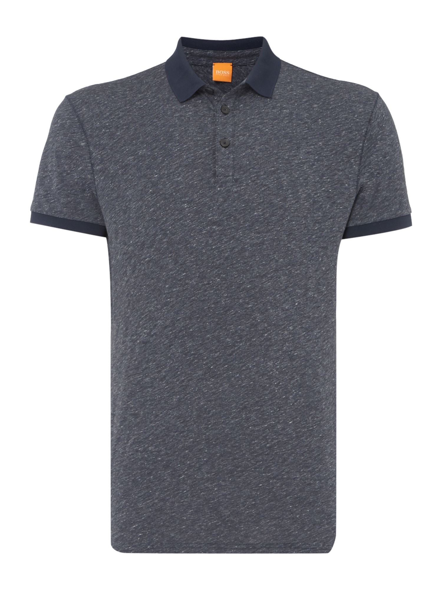 Men's Hugo Boss Regular Fit Short-Sleeve Polo Shirt, Blue Marl