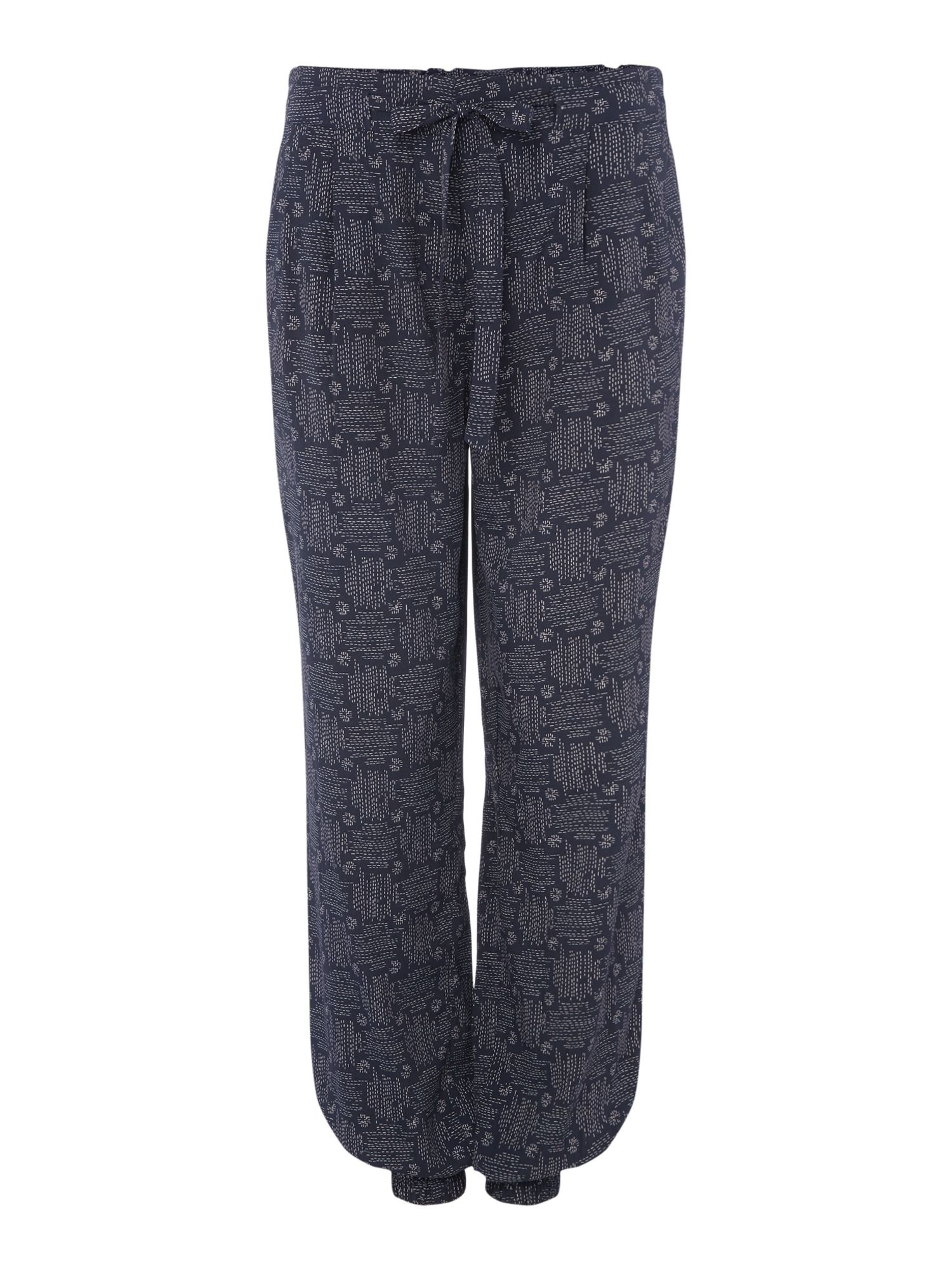 Maison De Nimes Cross Stitch Cargo Trouser, Blue