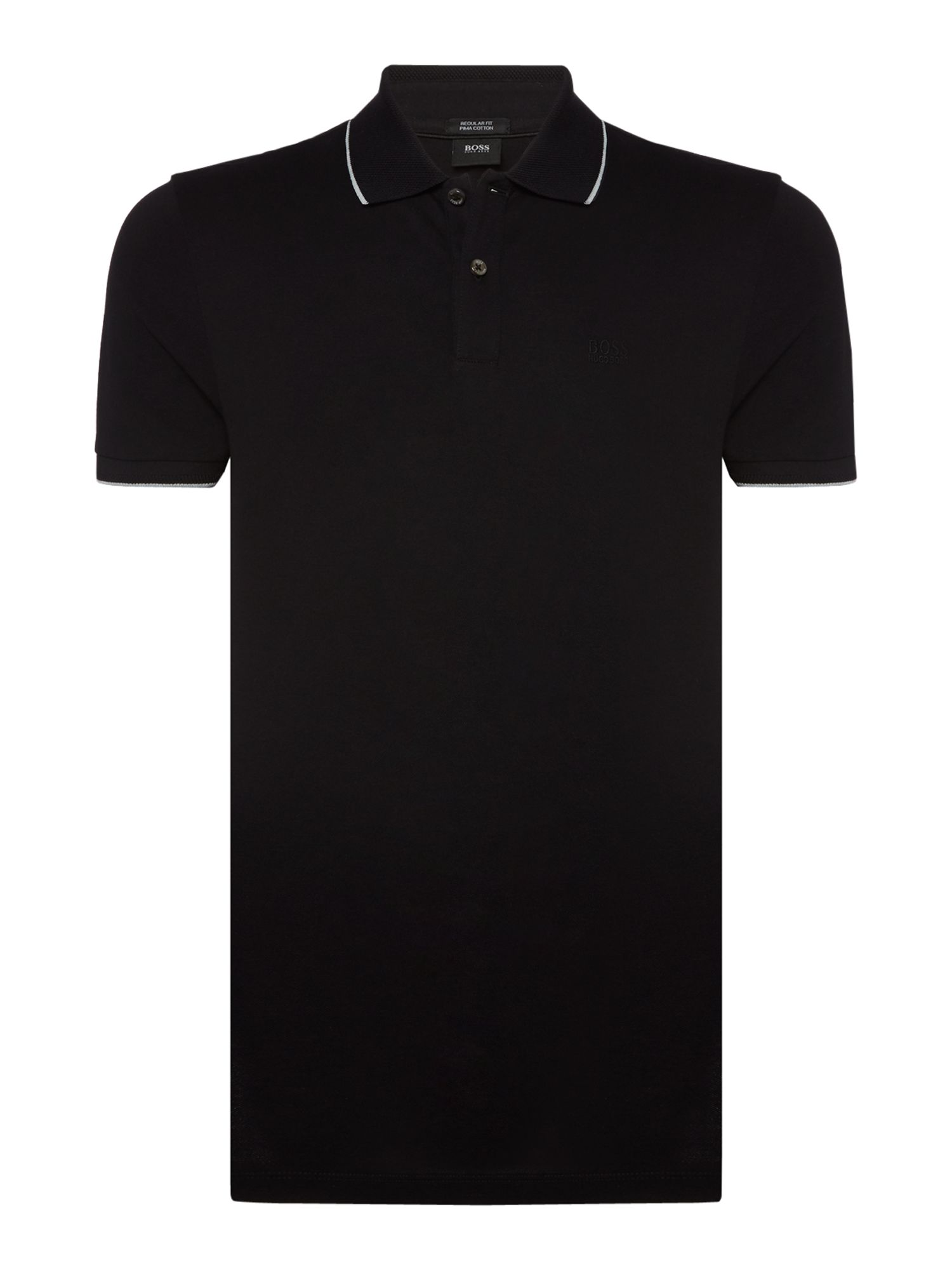 Men's Hugo Boss Parlay Regular Fit Logo Polo Shirt, Black
