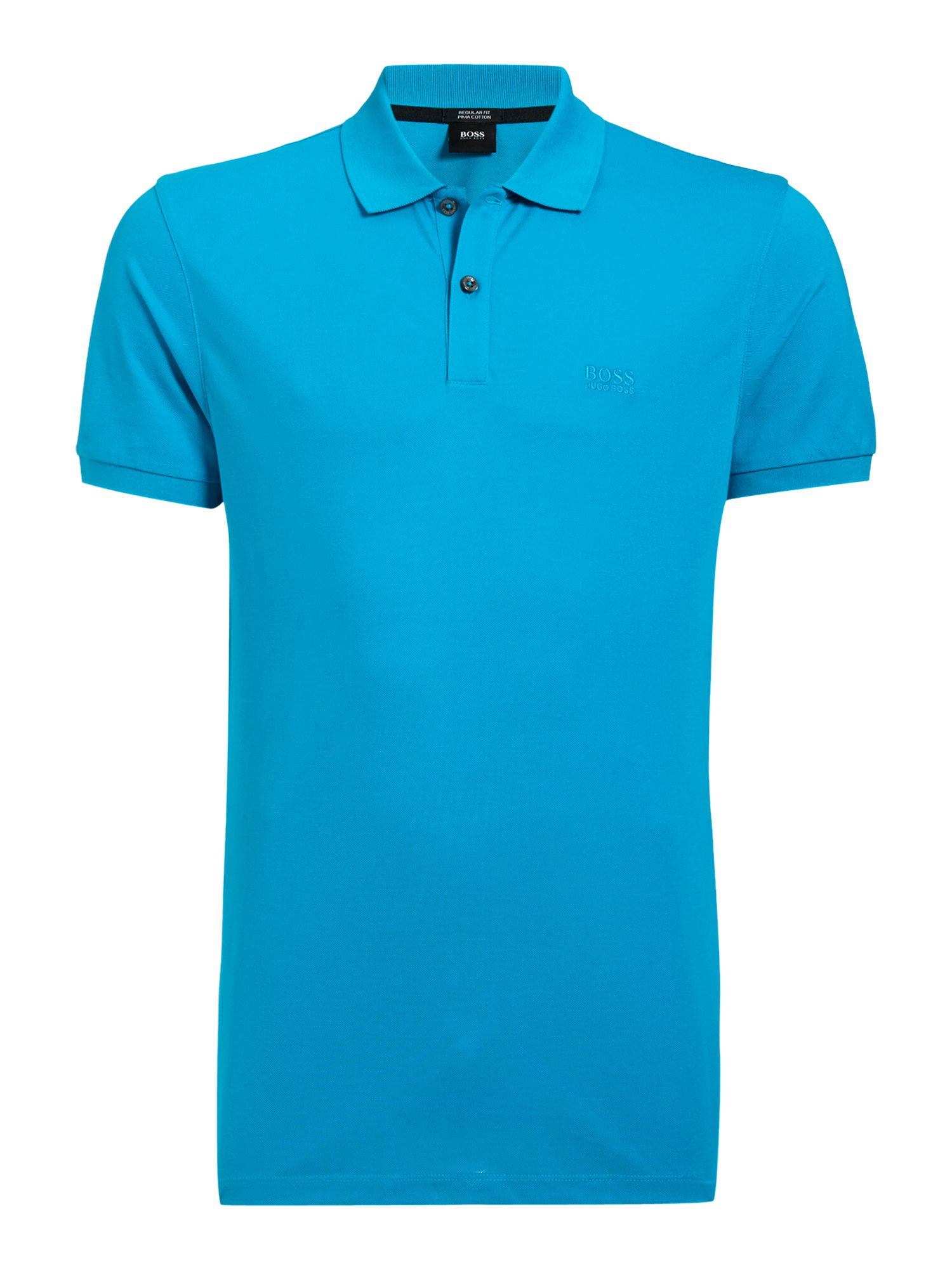 Men's Hugo Boss Pallas Regular Fit Short Sleeve Logo Polo, Bright Blue