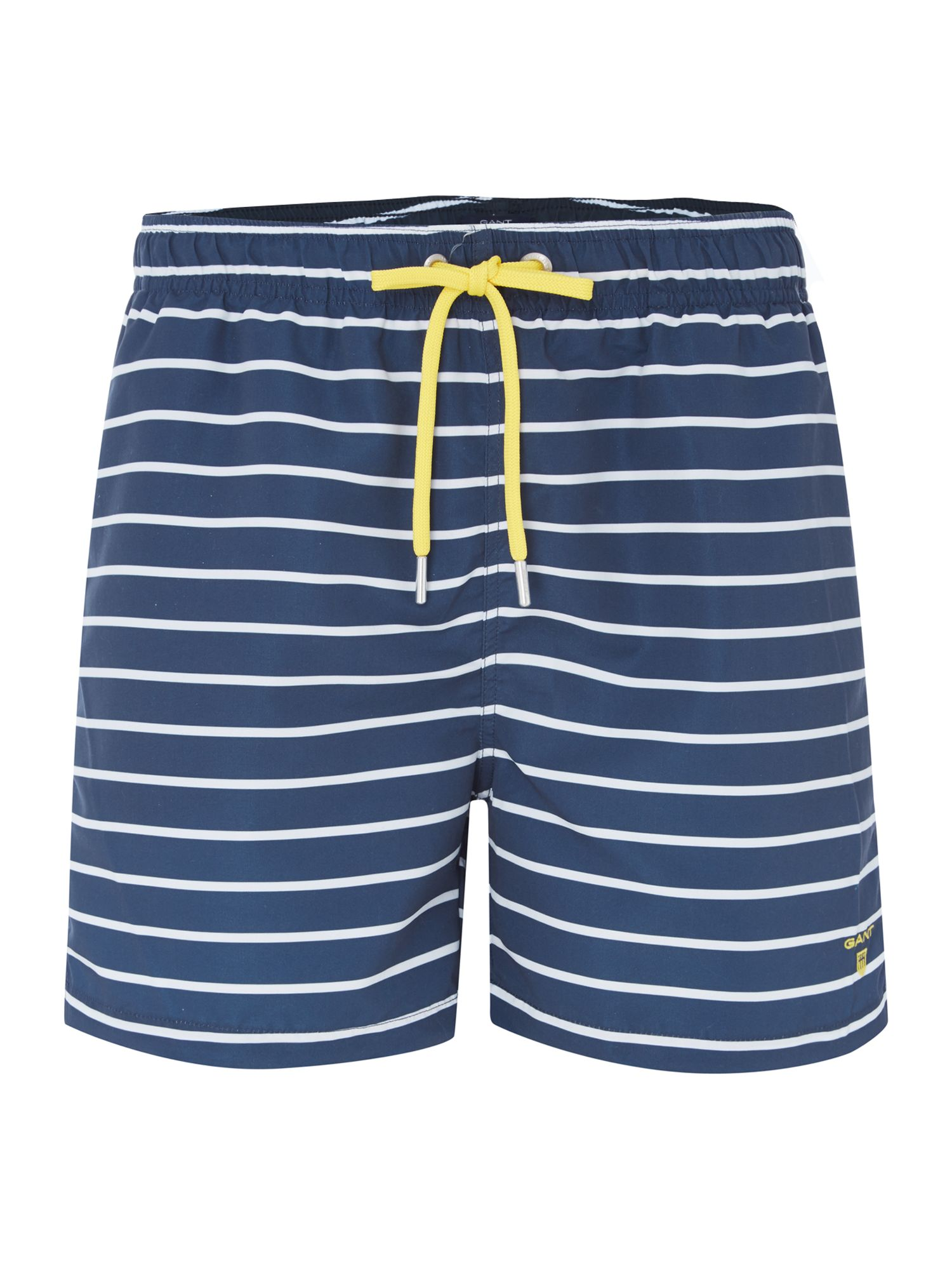 Mens Gant Strip swim shorts Navy