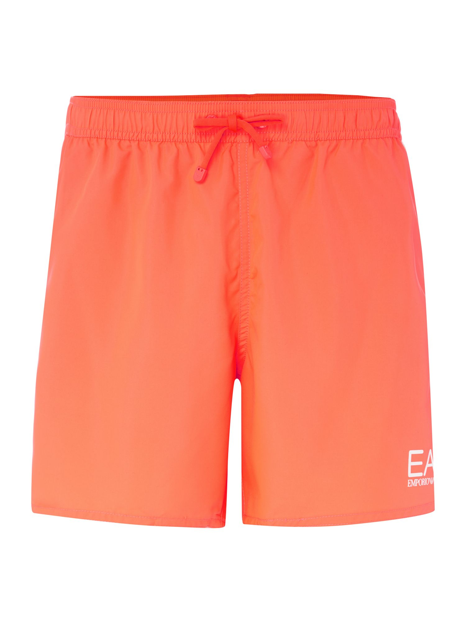 Men's EA7 Plain Logo Swim Shorts, Pink
