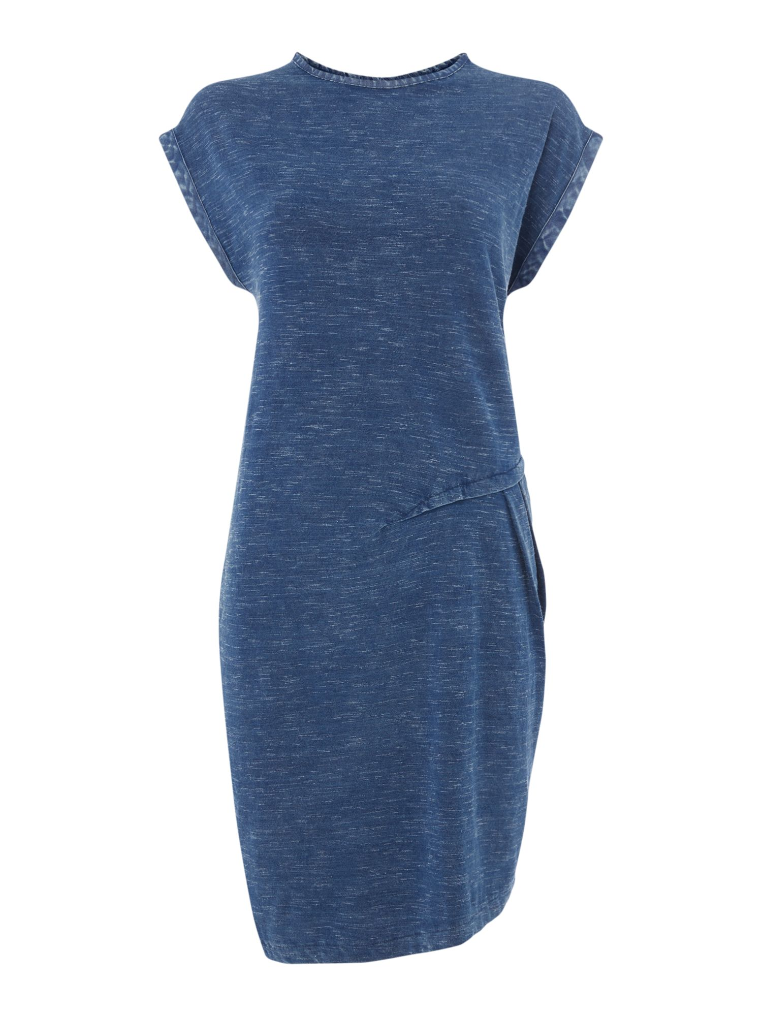 Maison De Nimes Denim look jersey ruched dress, Indigo