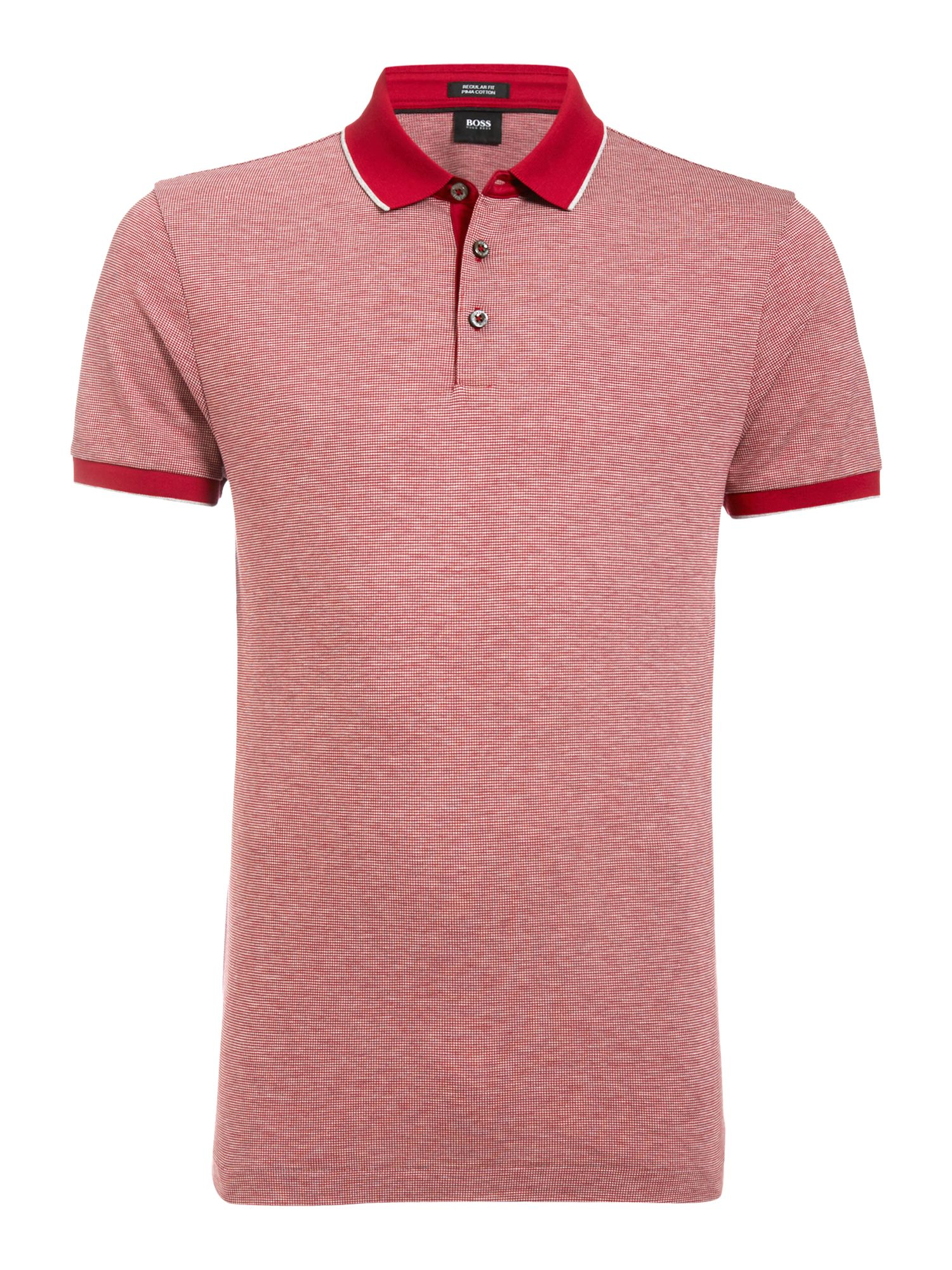 Men's Hugo Boss Jacquard Regular Fit Polo Shirt, Red