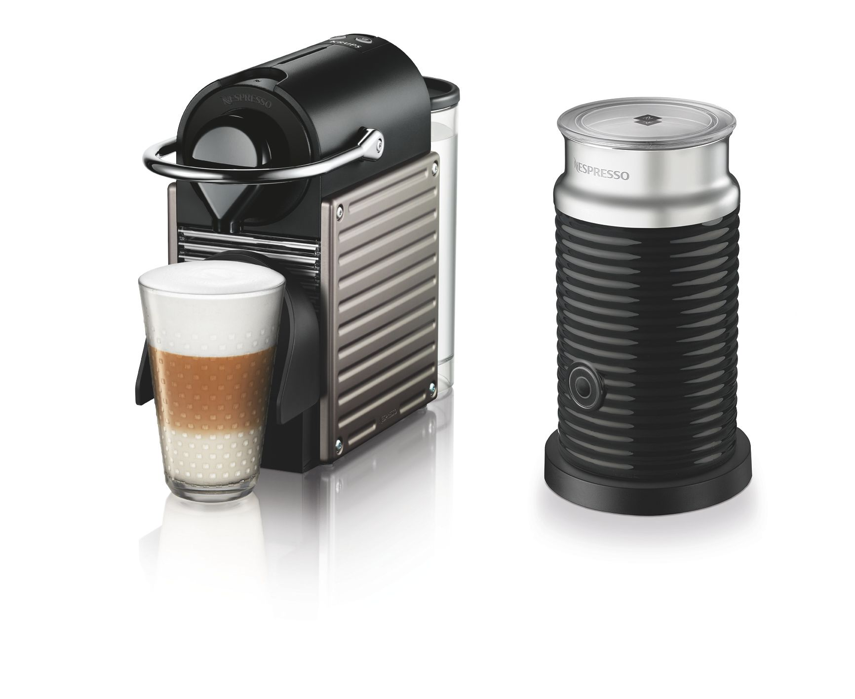 Krups Nespresso Pixie & Milk Machine Titanium