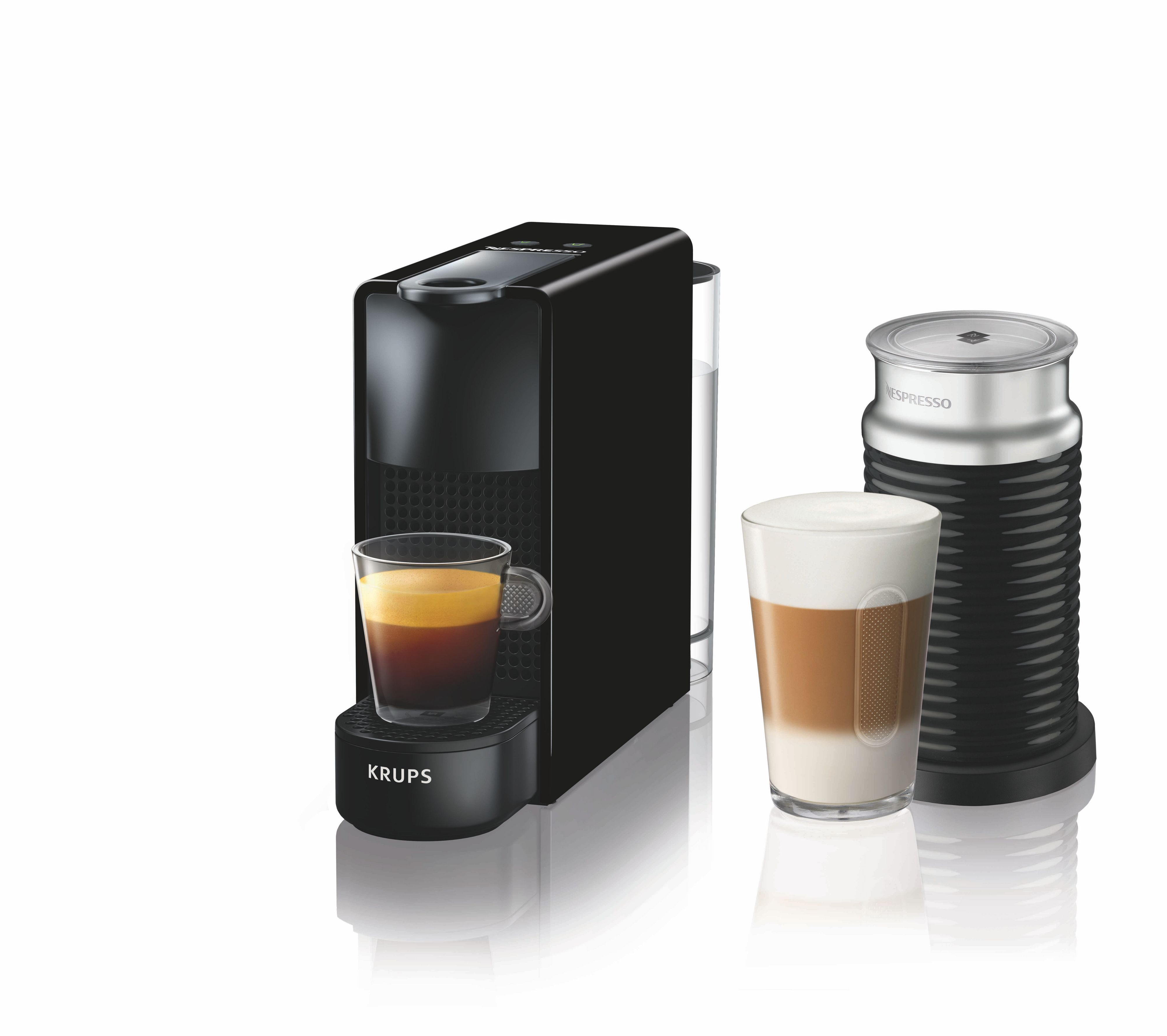 Krups Nespresso Essenza & Aeroccino Mini Machine Black