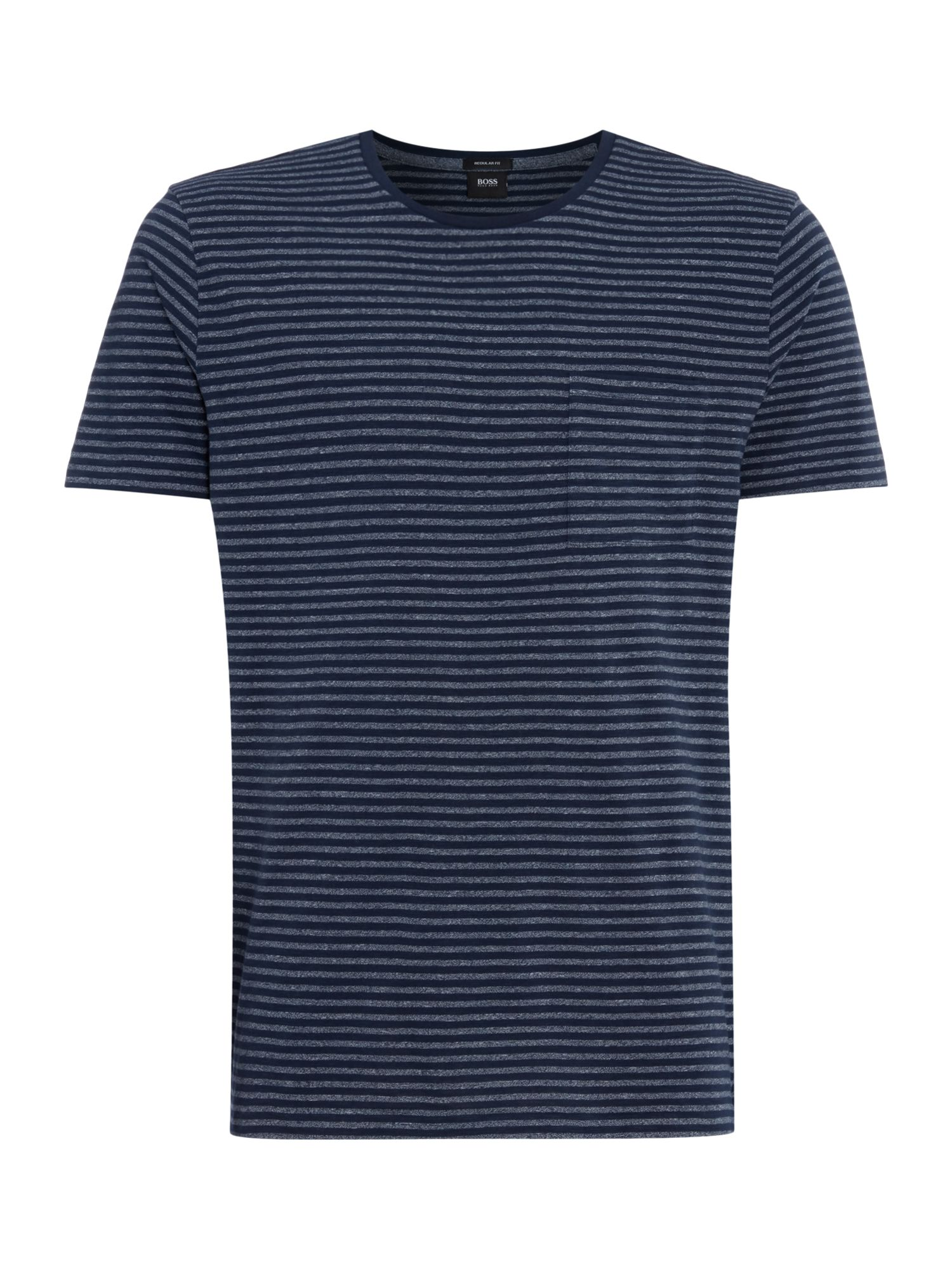 Men's Hugo Boss Striped Regular Fit T-Shirt, Blue