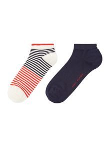 Tommy Hilfiger 2 Pair Pack Classy College Trainer Socks