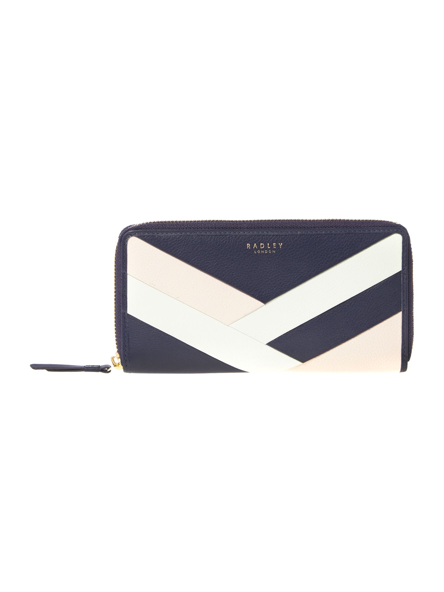 Radley Singer street large zip around matinee purse Navy