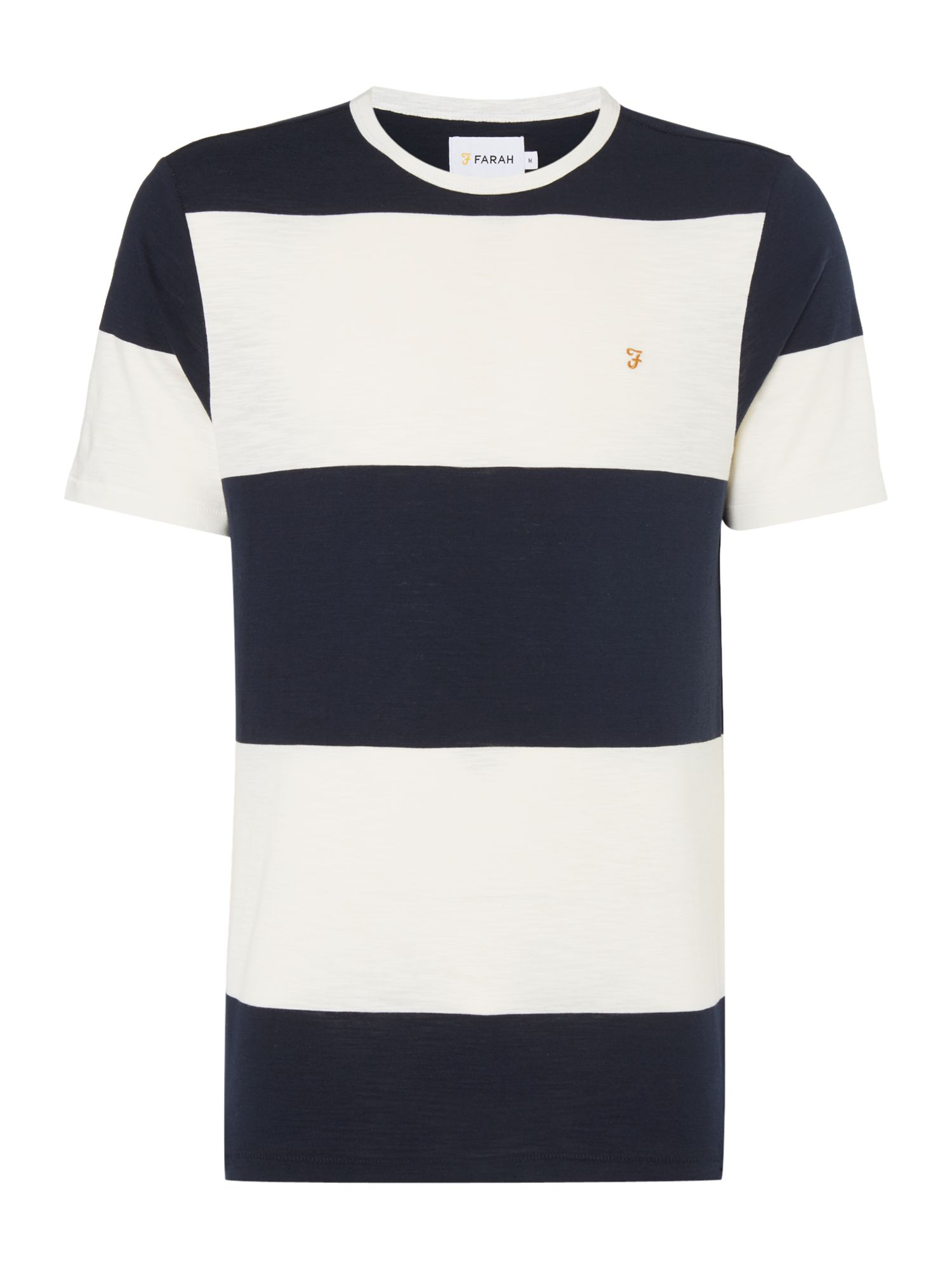Men's Farah Woolacombe Striped Tshirt, Blue