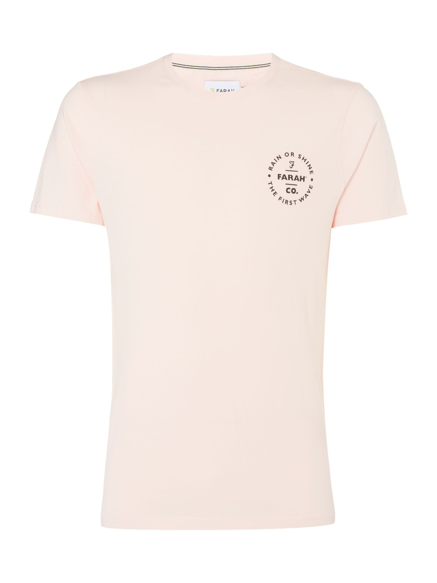 Men's Farah Lundy Slim Fit Logo Tshirt, Light Pink