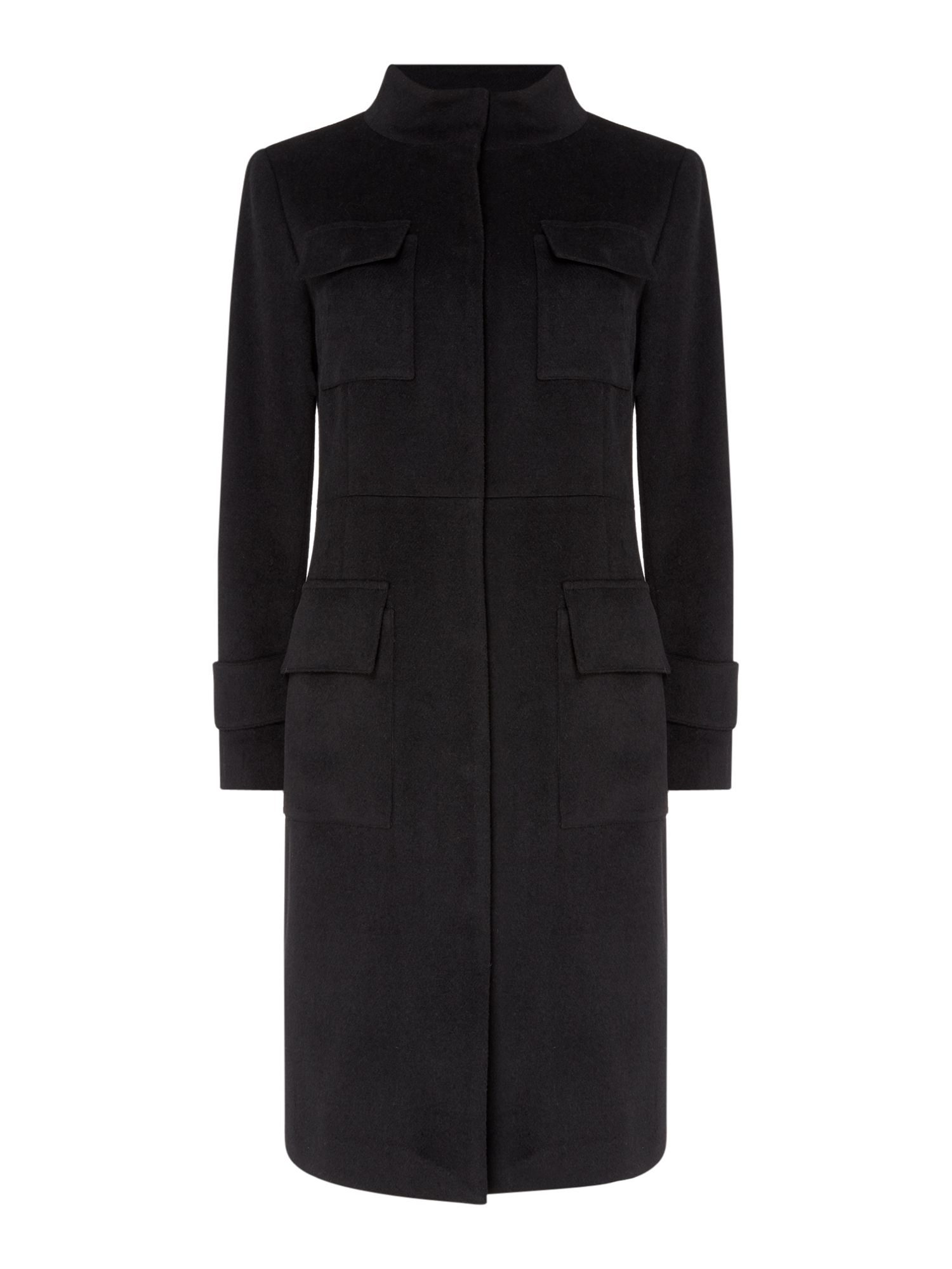 Linea Clara military coat, Black