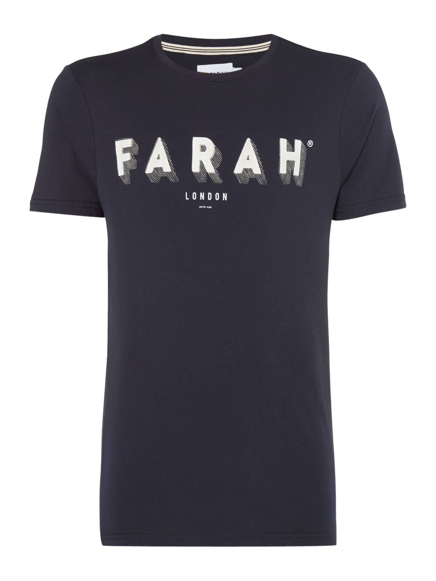 Men's Farah Haven Slim Fit Logo Tshirt, Blue