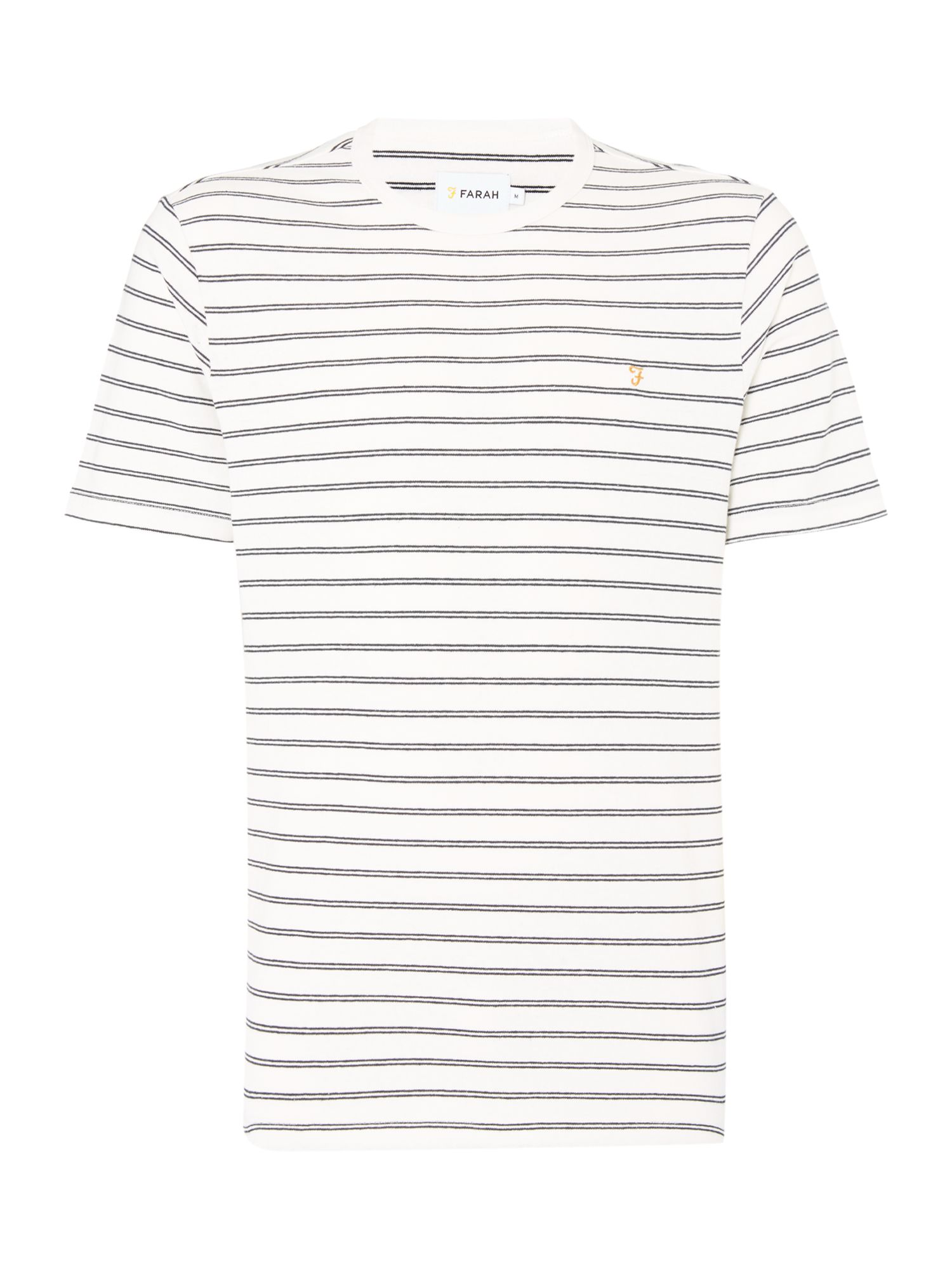 Men's Farah Kimmeridge Slim Fit Stripe Tshirt, Ecru