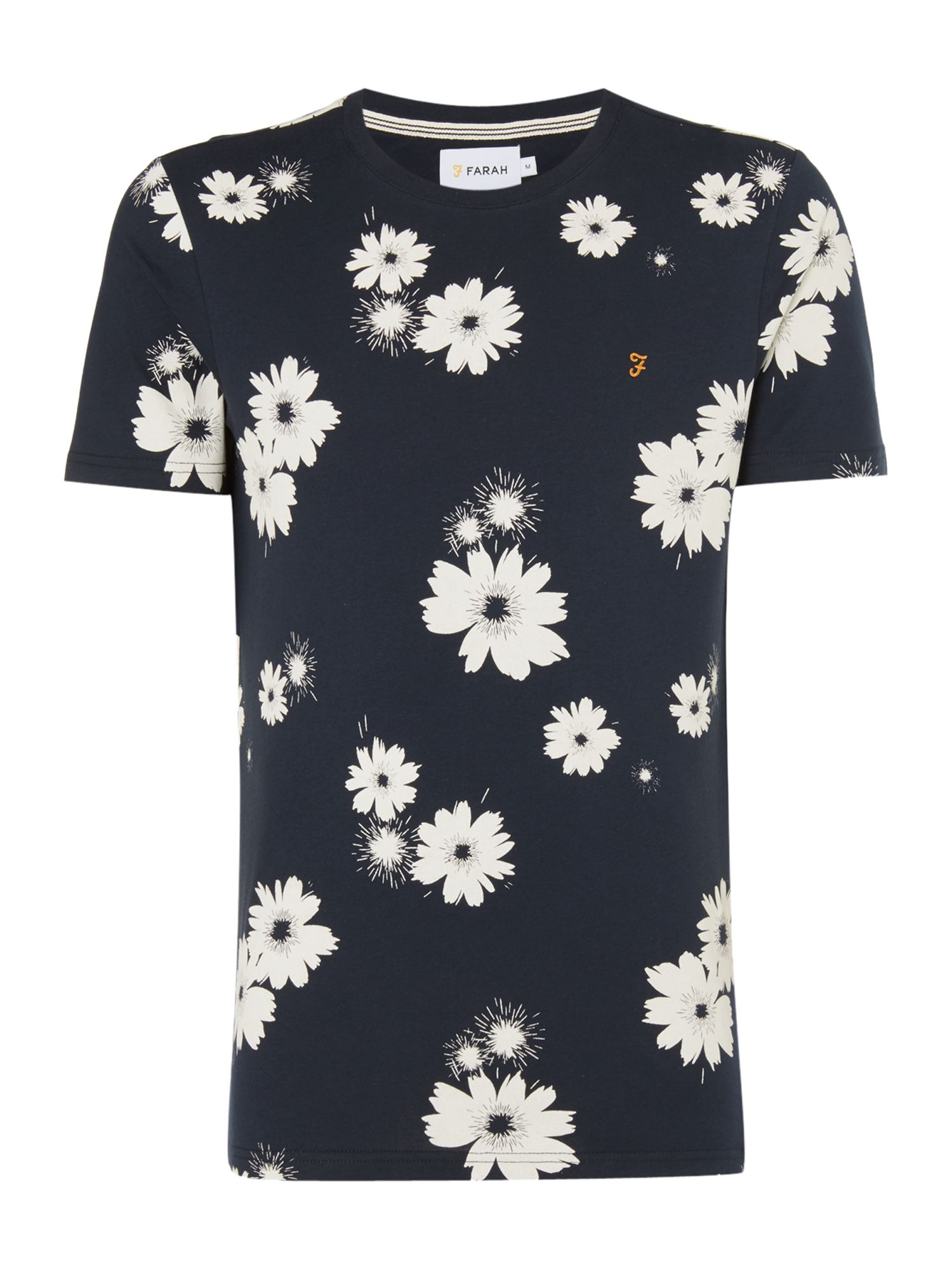 Men's Farah Ragworth Slim Fit Floral Print Tshirt, Blue