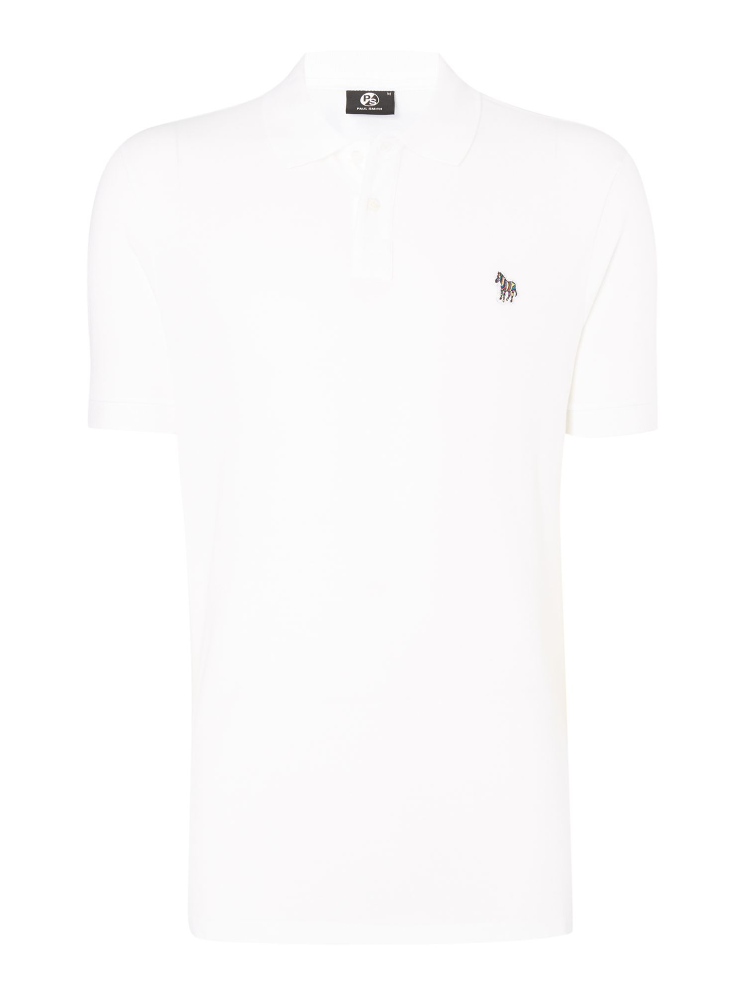 Men's PS By Paul Smith Zebra polo top, White