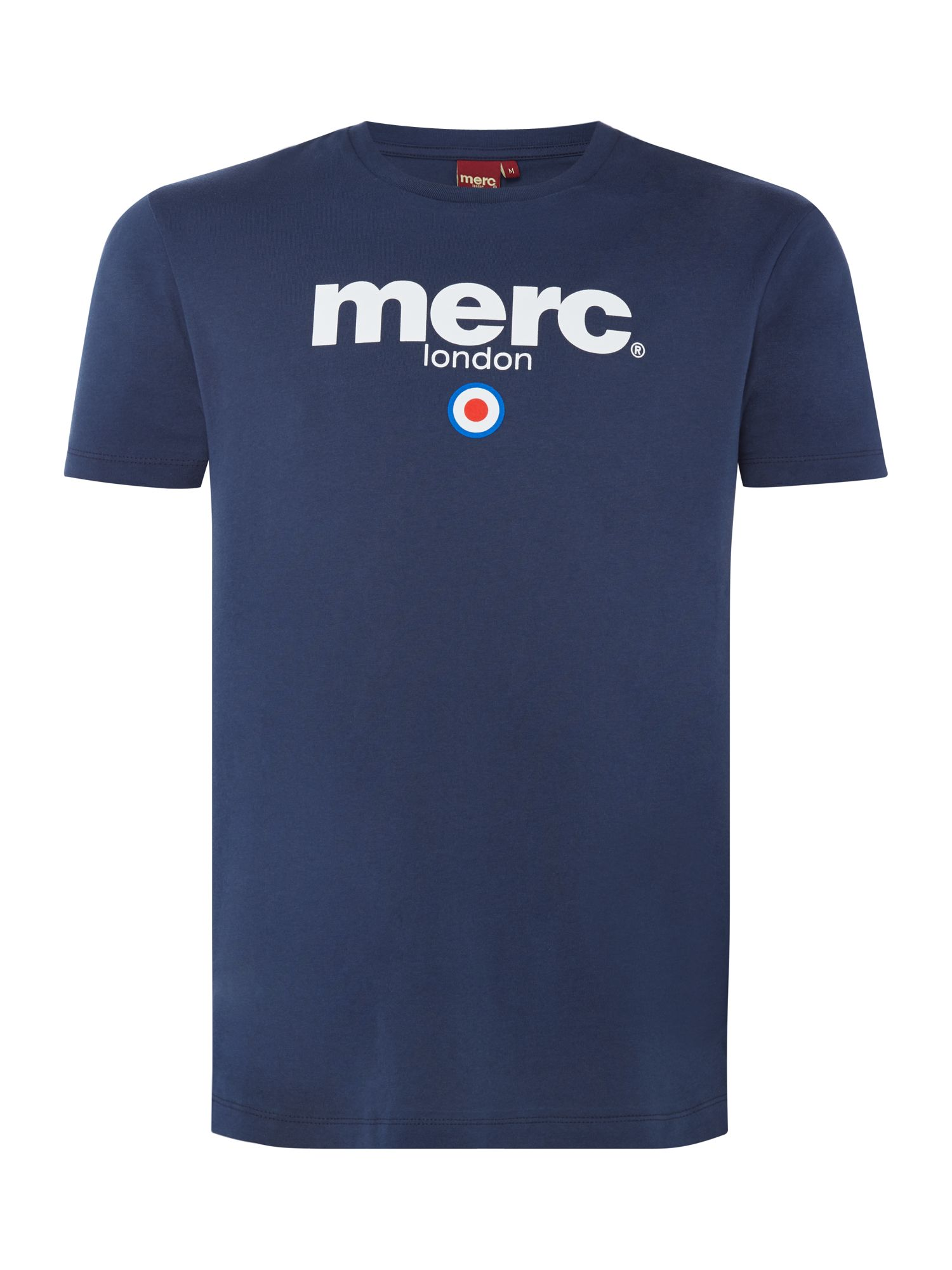 Men's Merc London Target Brighton T-Shirt, Blue