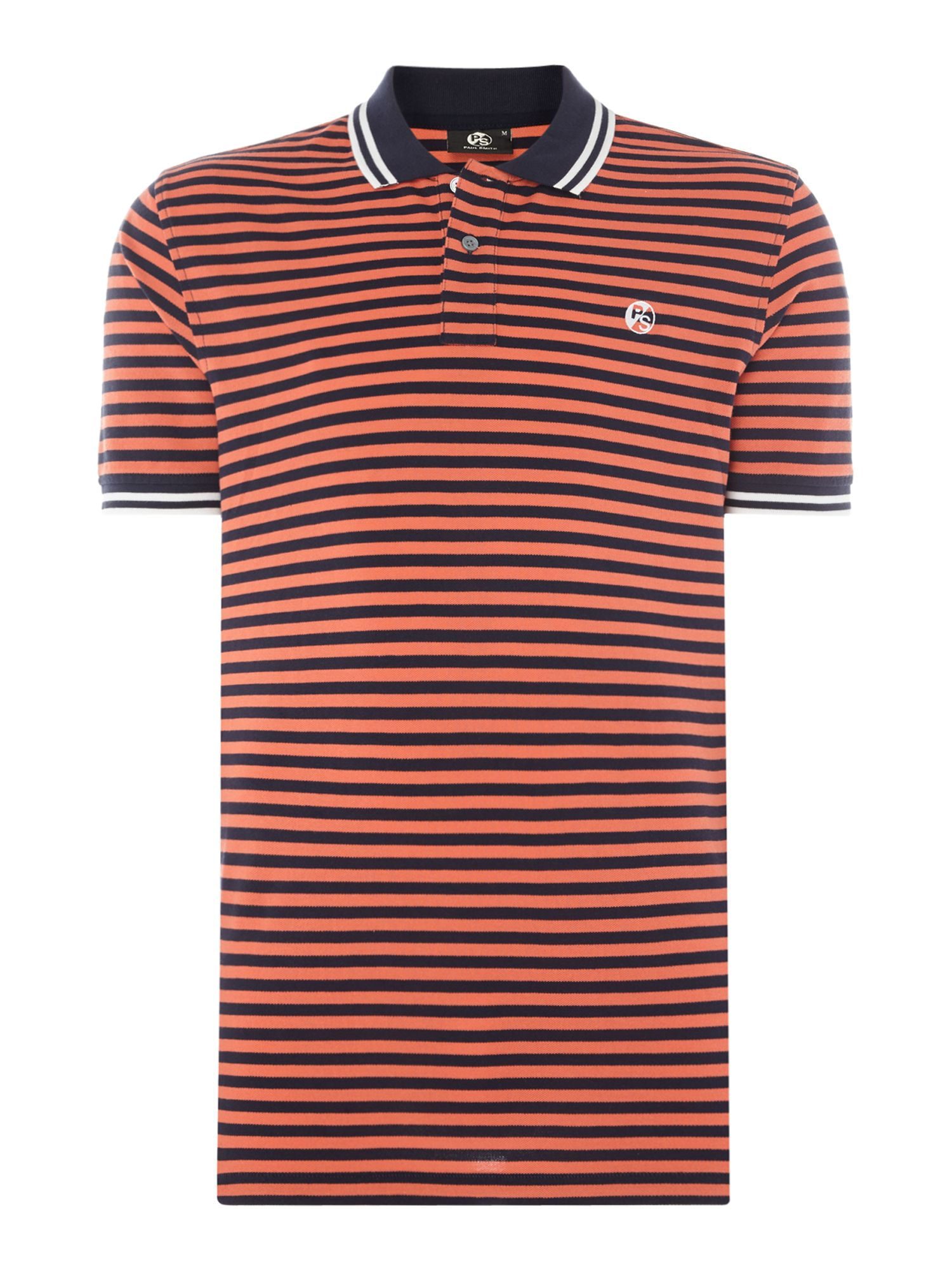 Men's PS By Paul Smith Regular stripe polo, Red