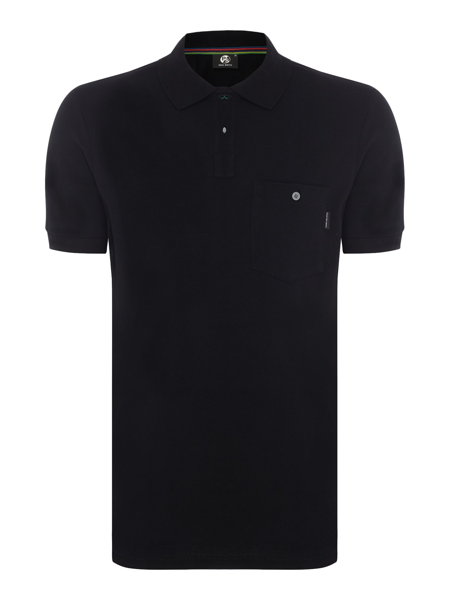 Men's PS By Paul Smith Regular pocket polo, Black
