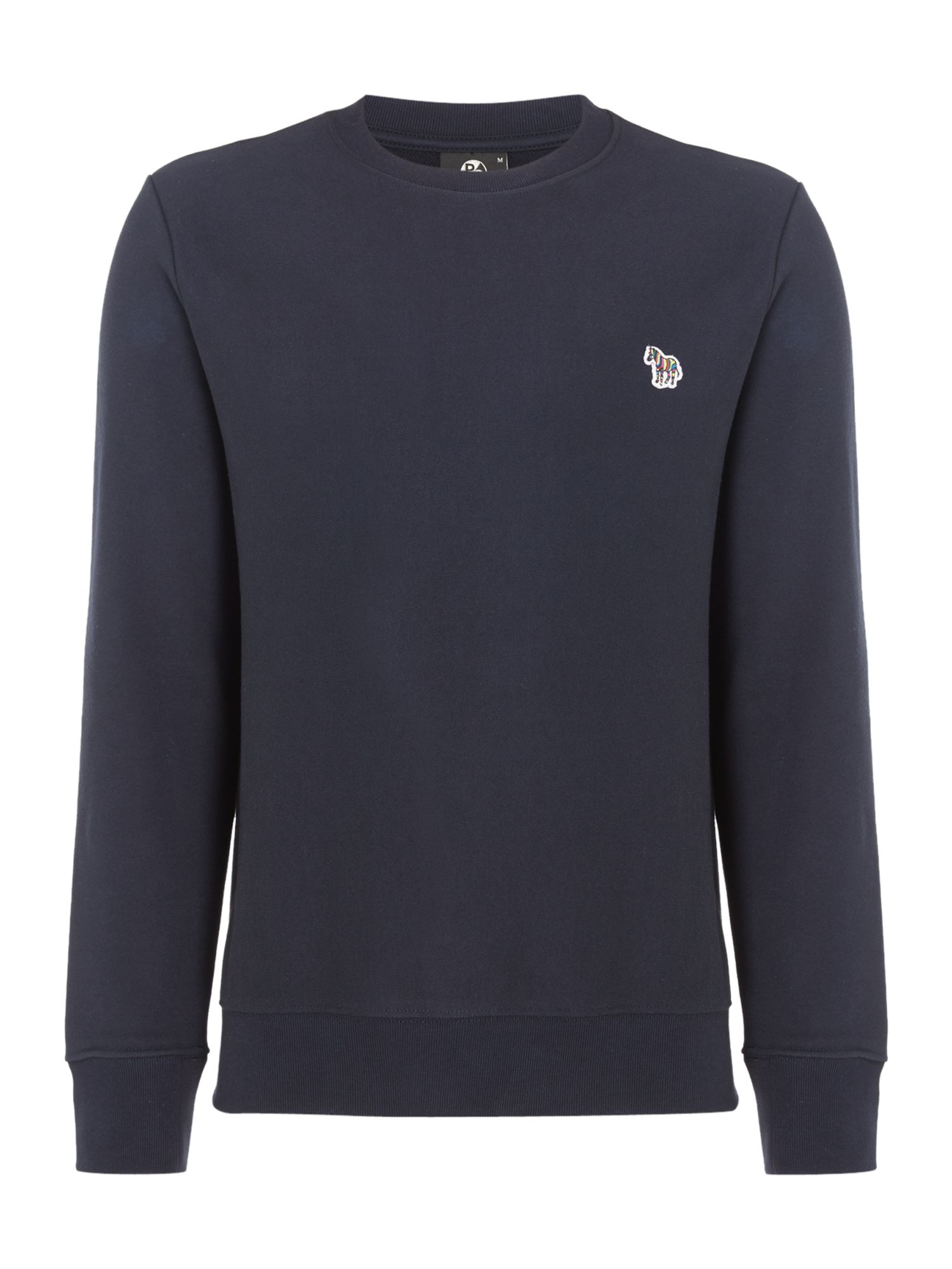 Men's PS By Paul Smith Zebra Logo Crew Neck Sweatshirt, Blue