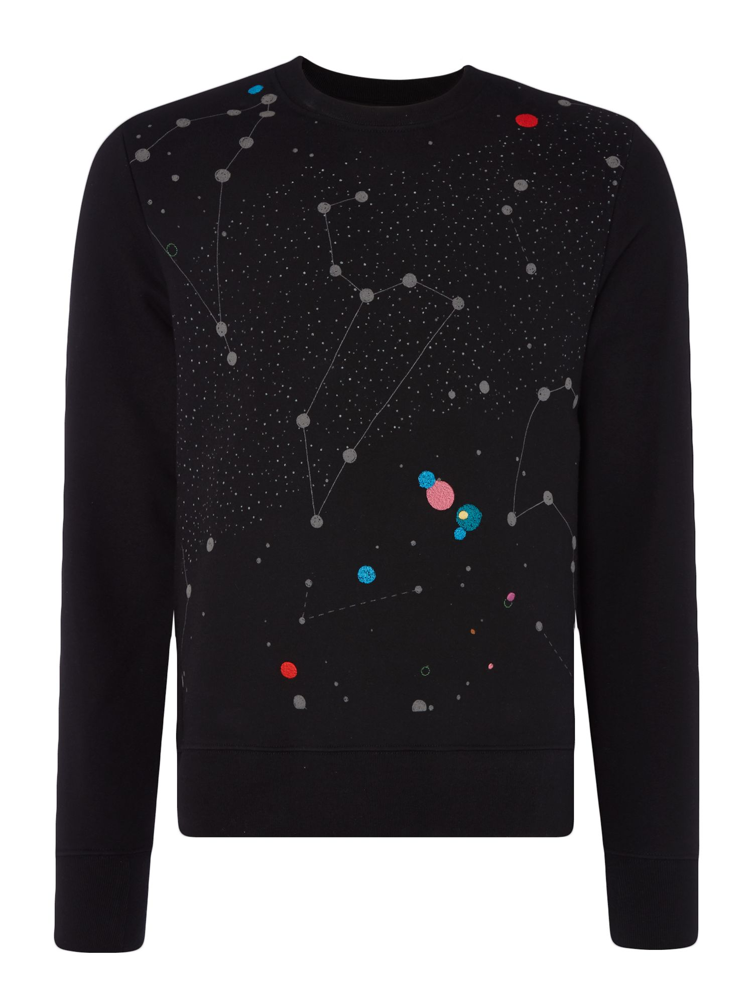 Men's PS By Paul Smith Constilation print sweatshirt, Black