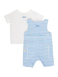 Joules Baby Boys Striped Dungaree Set