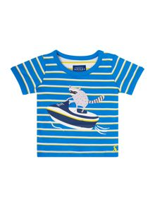 Joules Boys Striped Racoon T-Shirt