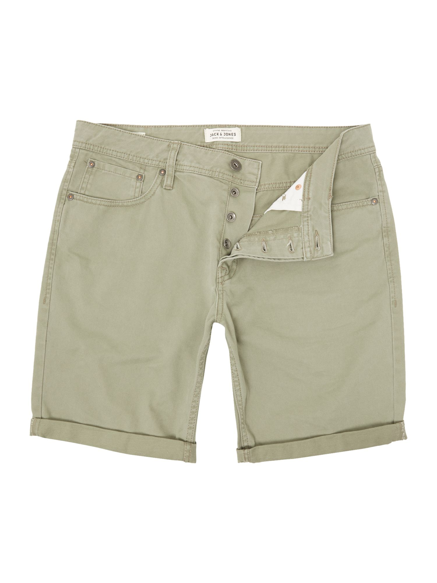 Mens Jack & Jones Rick Originals Regular Fit Shorts Khaki