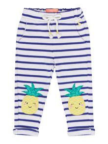 Joules Girls Striped Pineapple Leggings