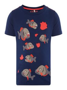 Joules Boys Piranha Attack Short Sleeve T-Shirt