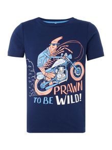 Joules Boys Totally Prawn Short Sleeve T-Shirt
