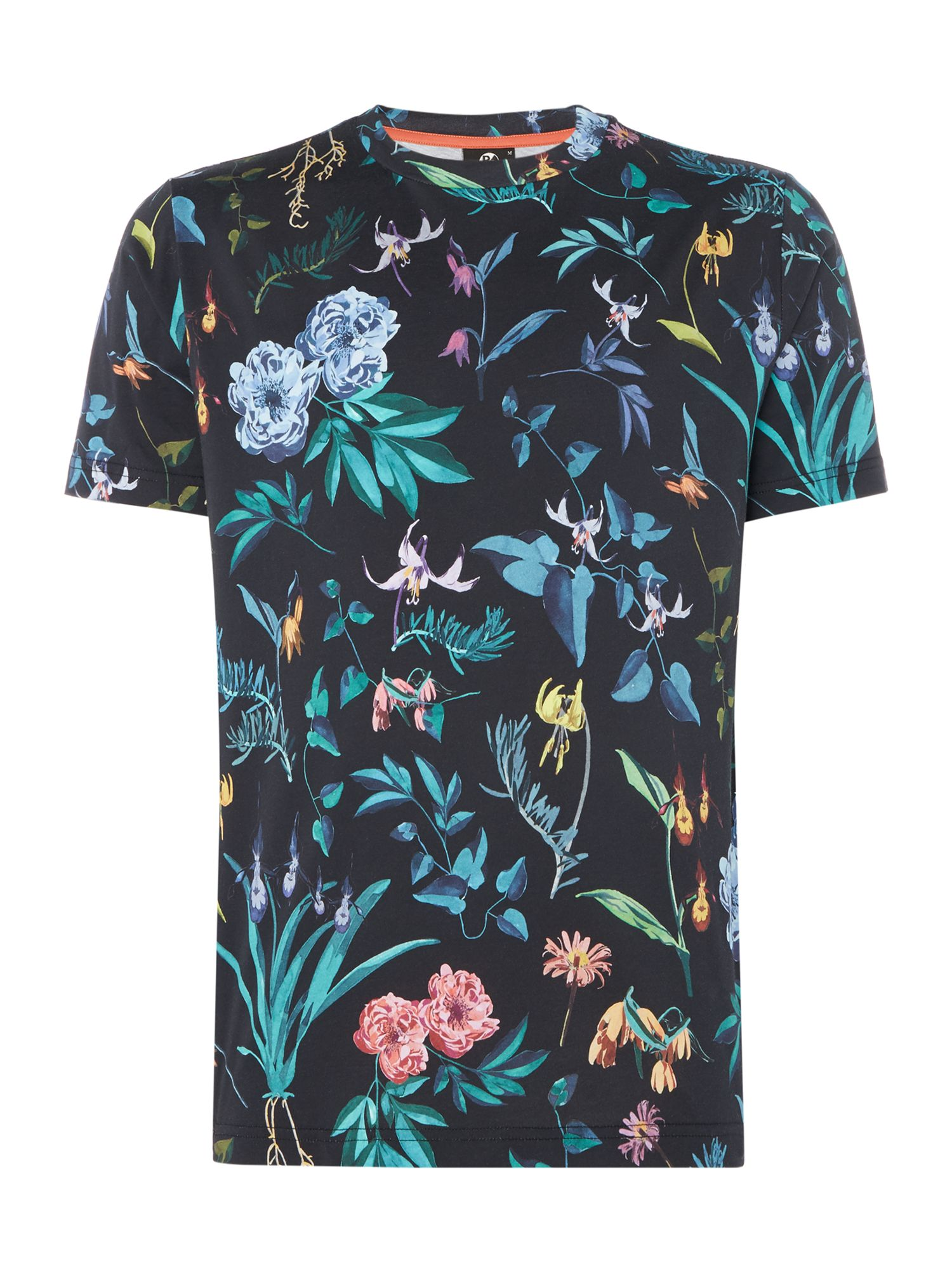 Men's PS By Paul Smith Black alpine floral print t-shirt, Black