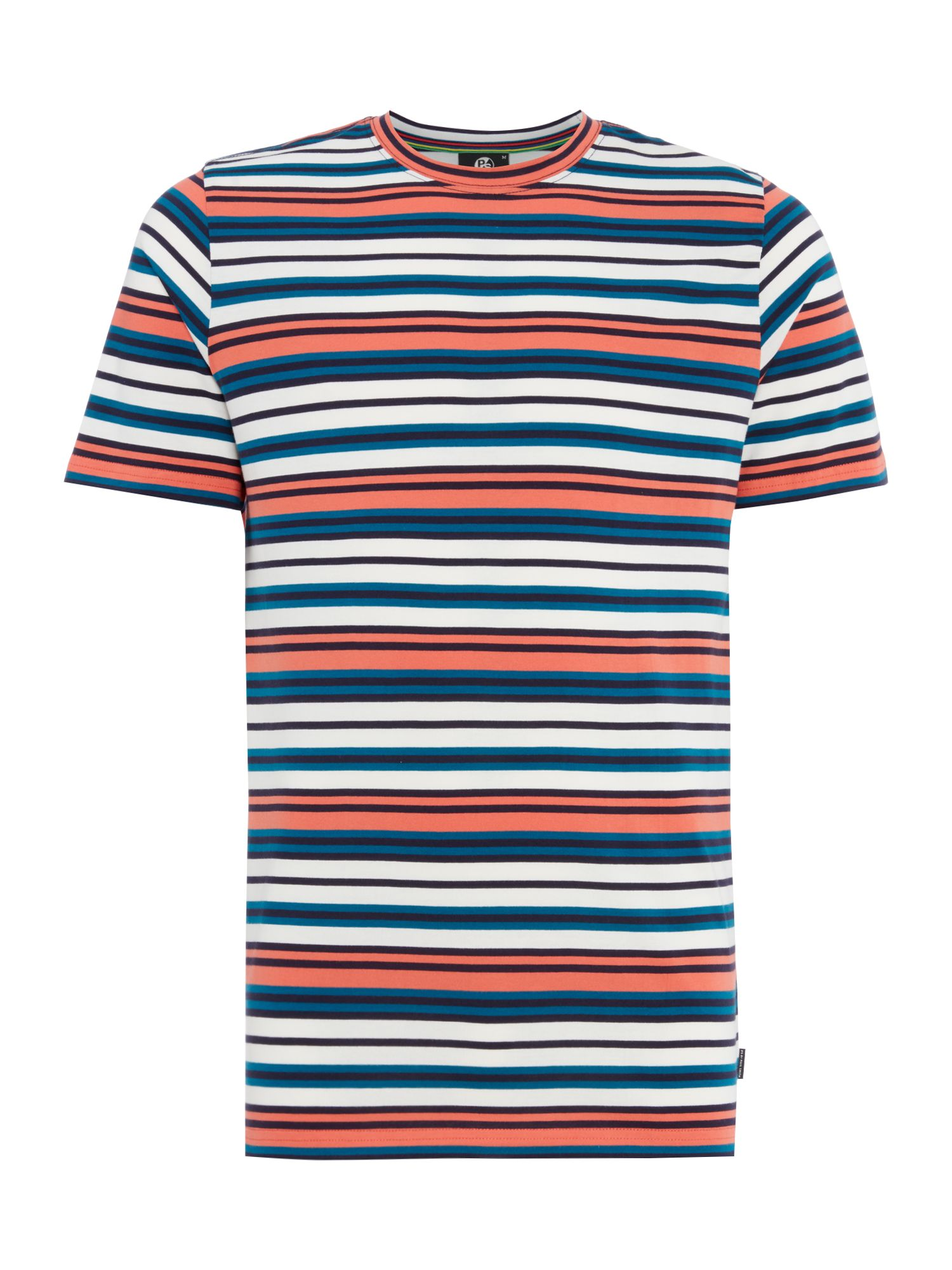 Men's PS By Paul Smith Multi stripe t-shirt, Red Multi