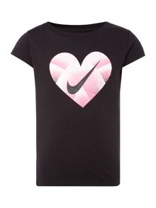 Nike Girls Gradient Heart Nike T-Shirt