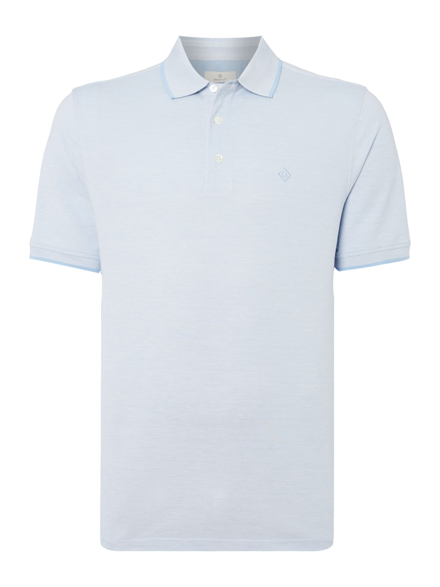 Men's Gant Short Sleeve Pique Polo, Light Blue