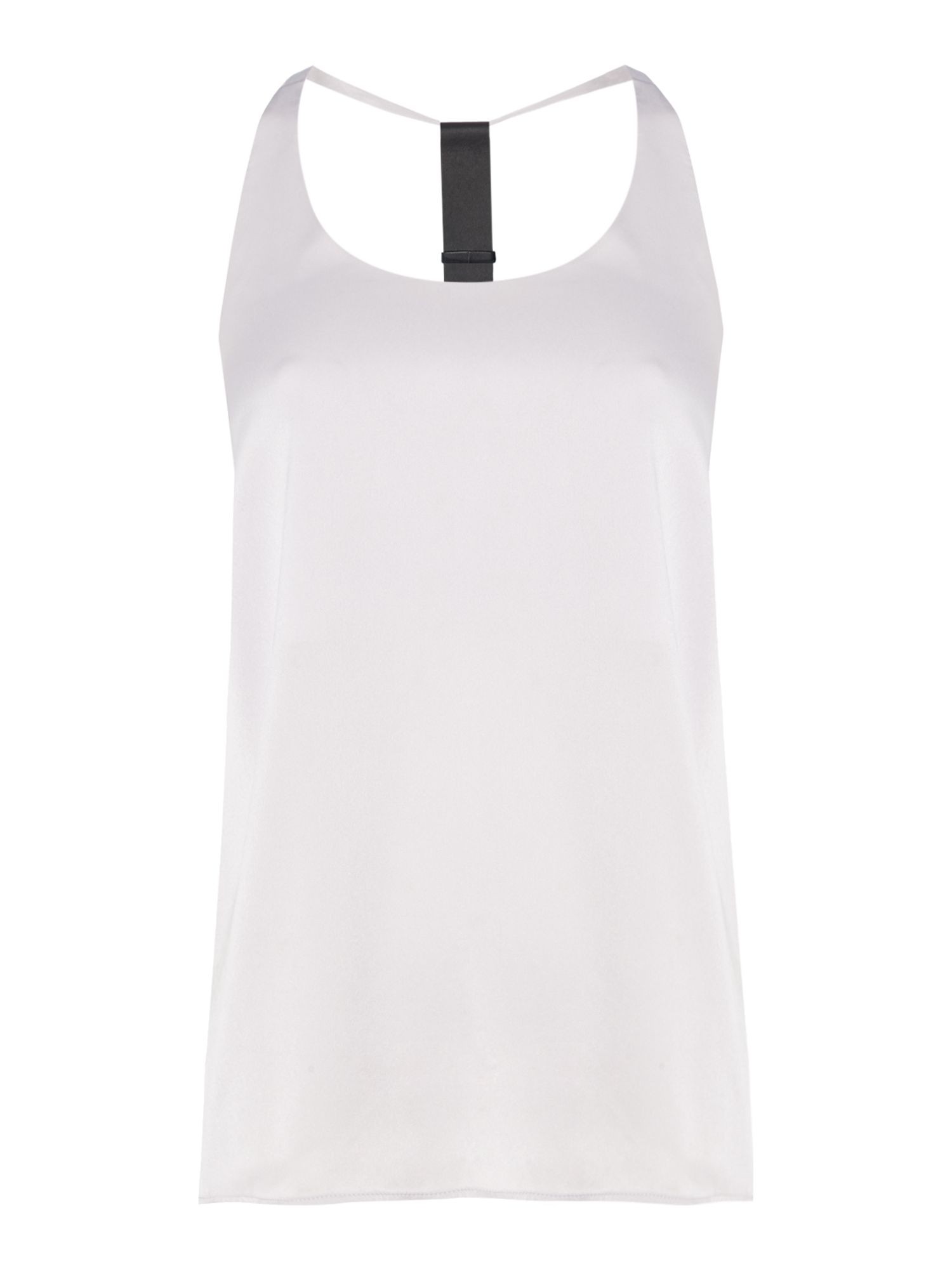 Label Lab Blair Strap Detail Top, Grey