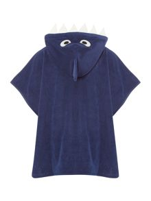 Joules Boys Hooded Shark Poncho Towel