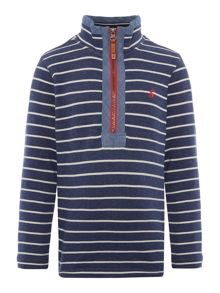 Joules Boys Half Zip Stripe Sweatshirt