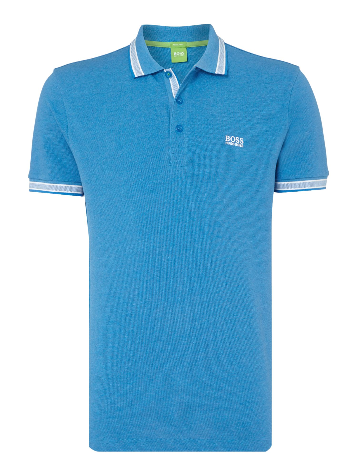 Men's Hugo Boss Short Sleeve Paddy Regular Fit Polo Shirt, Blue