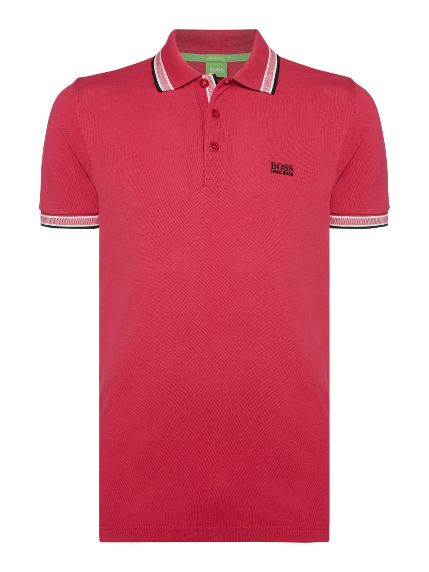 Men's Hugo Boss Short Sleeve Paddy Regular Fit Polo Shirt, Pink