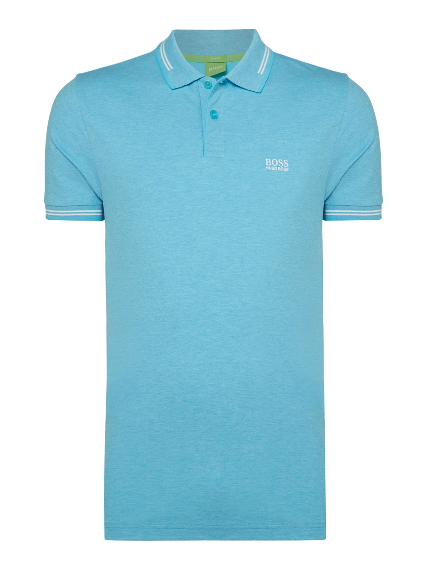 Men's Hugo Boss Paul Short Sleeve Slim Fit Polo Shirt, Light Blue