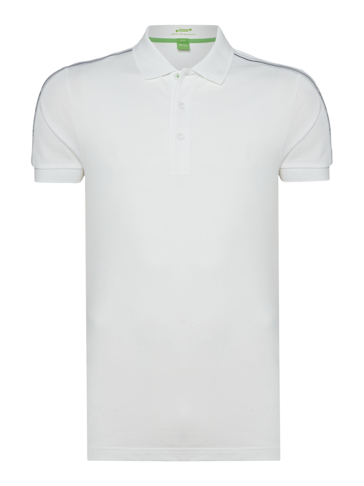 Men's Hugo Boss Paule Short Sleeve Slim Fit Polo Shirt, White
