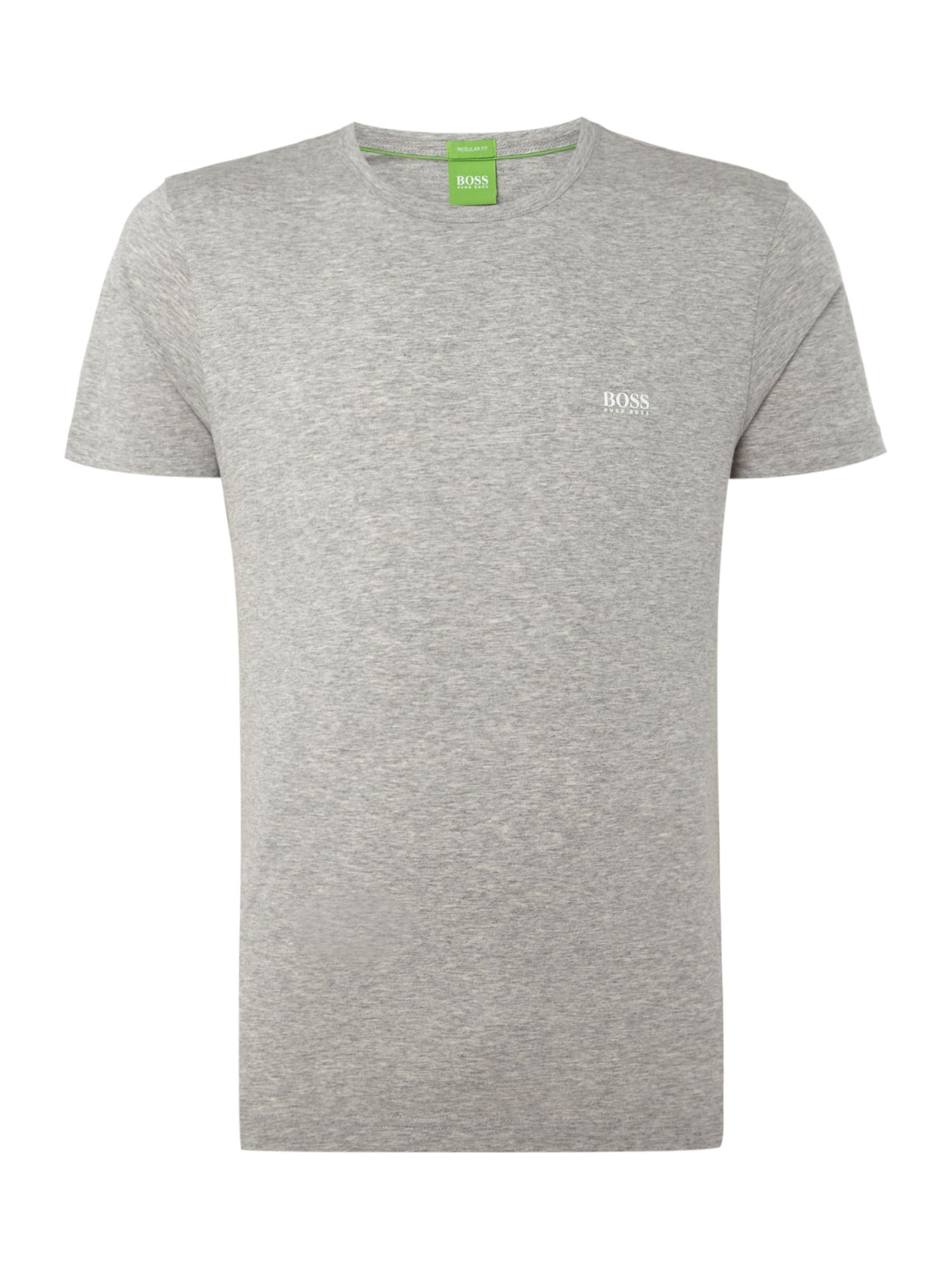 Men's Hugo Boss Crew Neck Regular Fit T-Shirt, Grey Marl