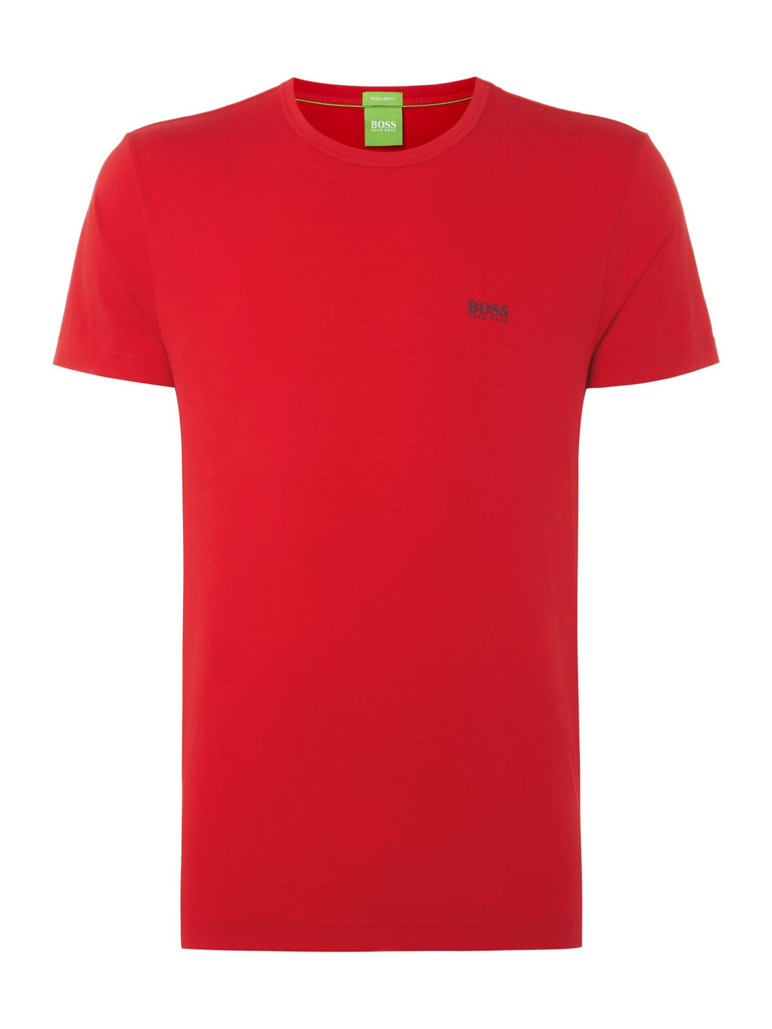 Men's Hugo Boss Crew Neck Regular Fit T-Shirt, Red