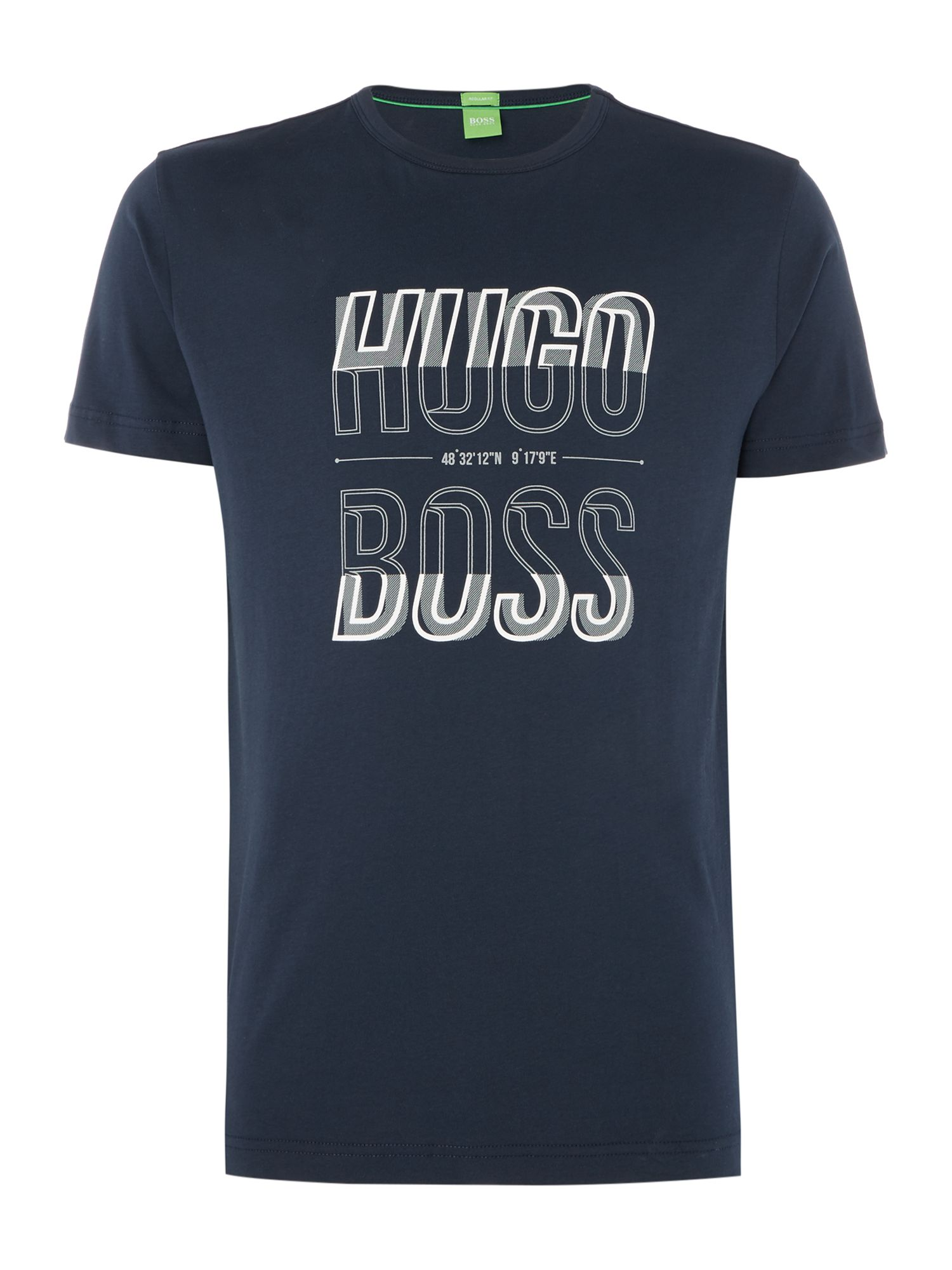 Men's Hugo Boss Boss Logo Crew Neck Regular Fit T-Shirt, Blue