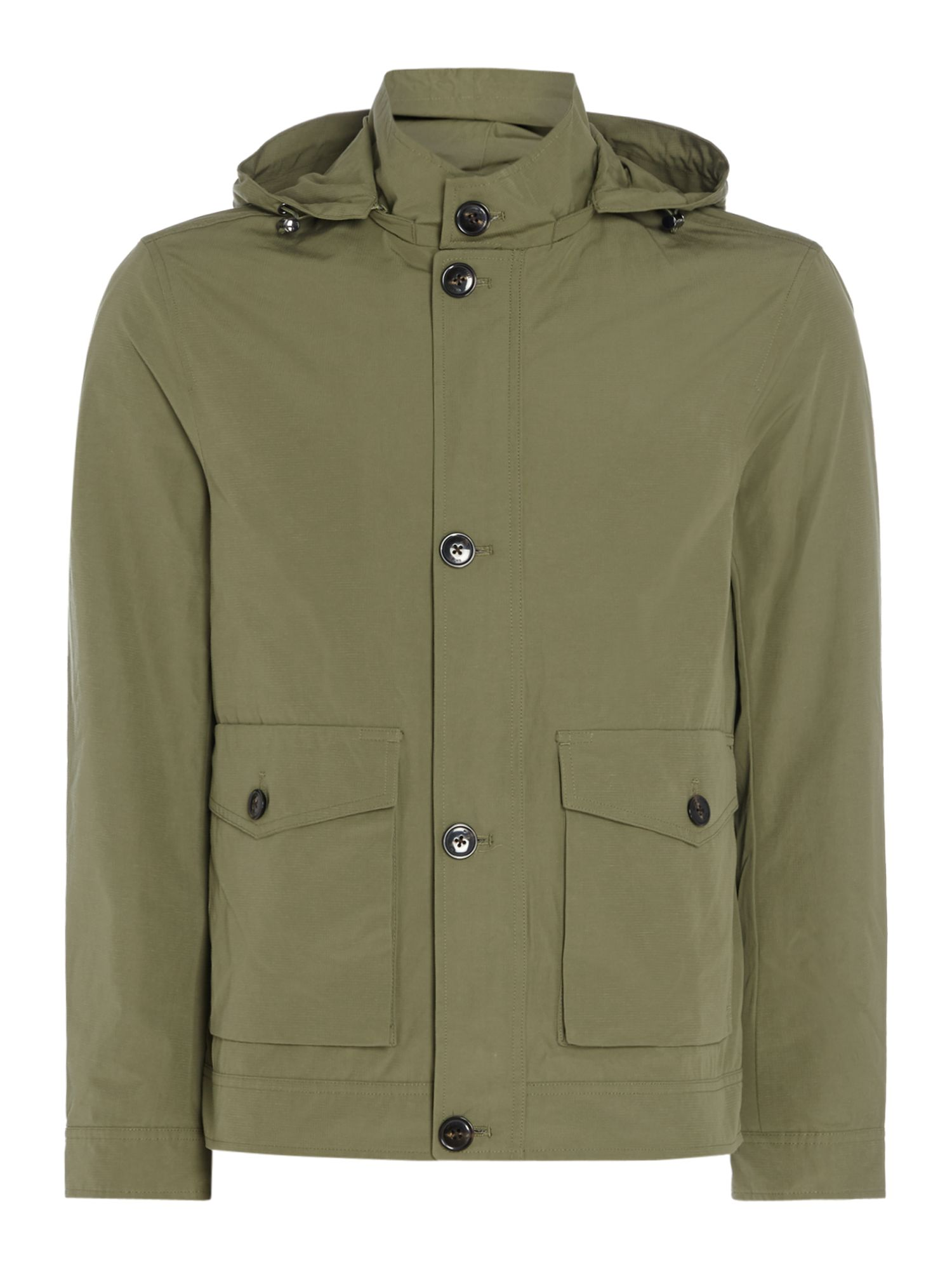 Mens Michael Kors Hooded ZipUp Jacket Khaki