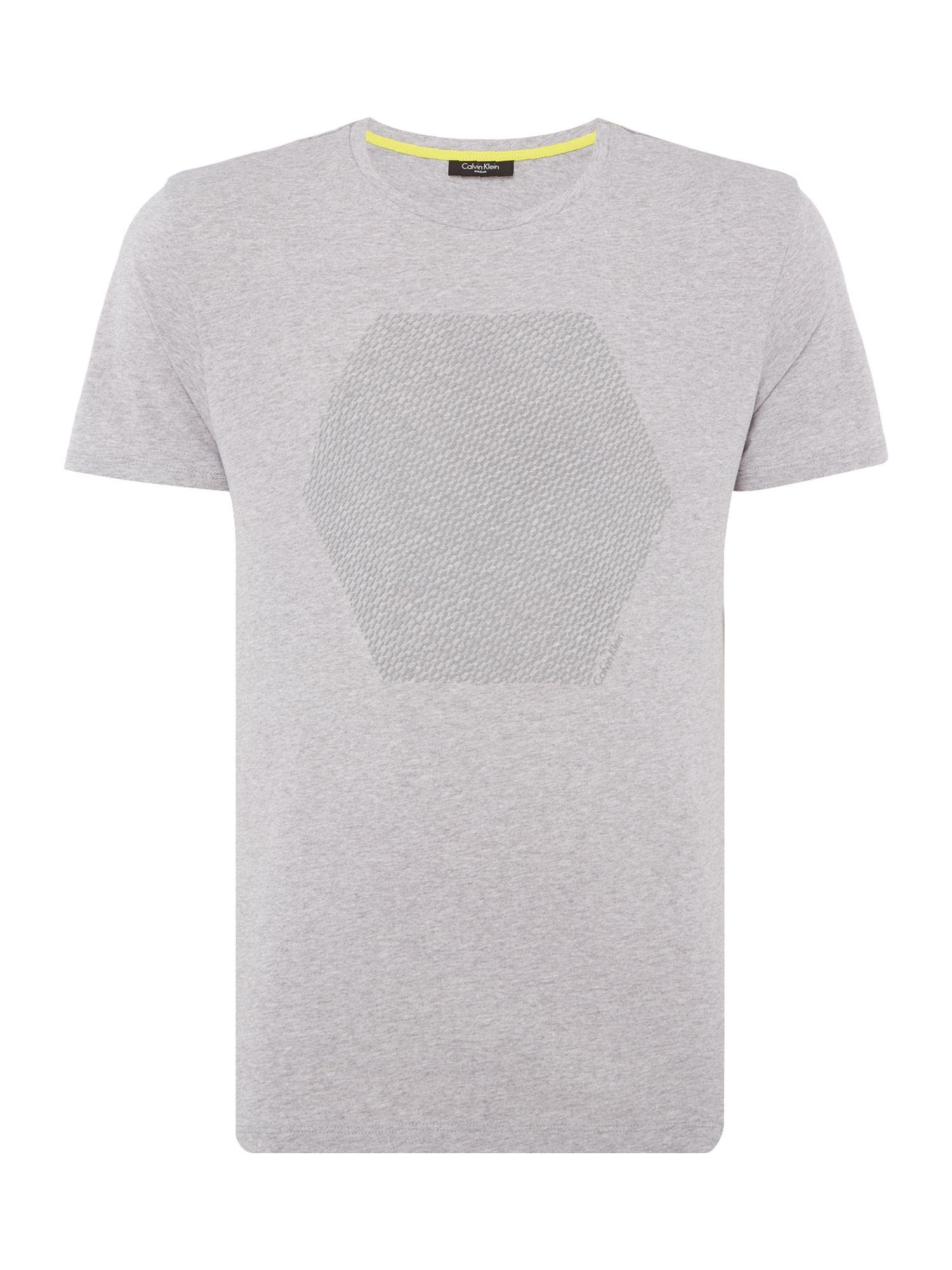 Men's Calvin Klein Jali Refined Cotton T-shirt, Mid Grey