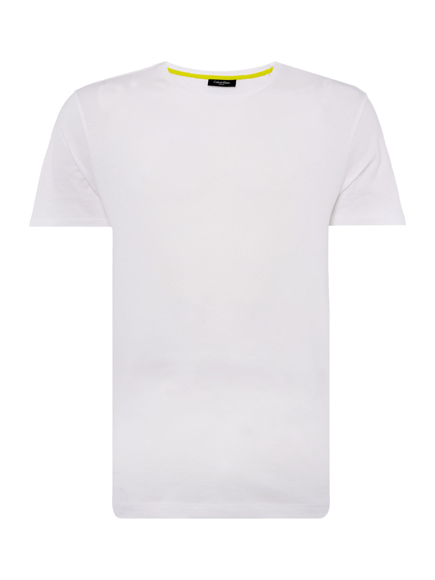 Men's Calvin Klein Jali Refined Cotton T-shirt, White