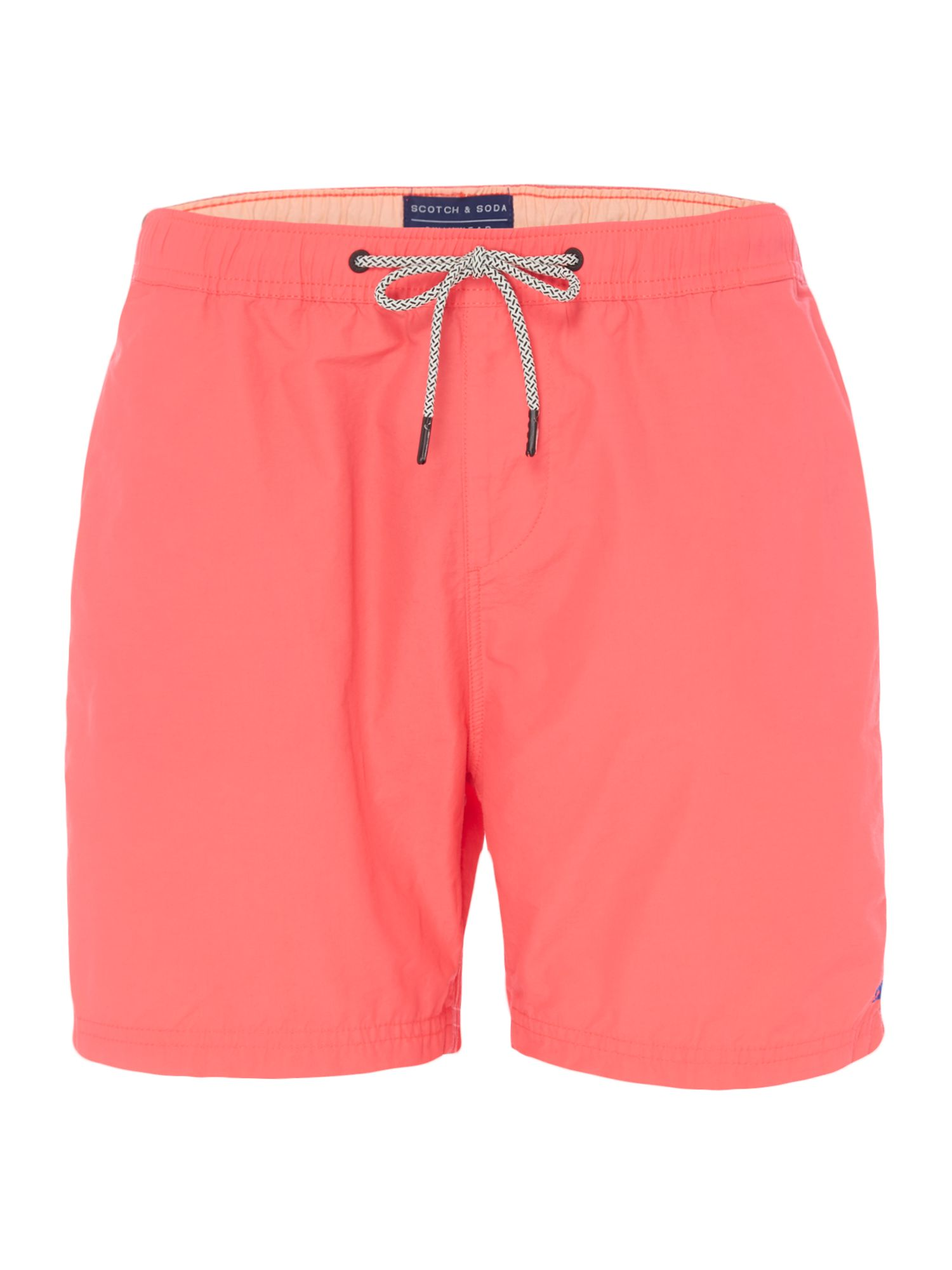 Men's Scotch & Soda Mid-length Colourful Swim Shorts, Red